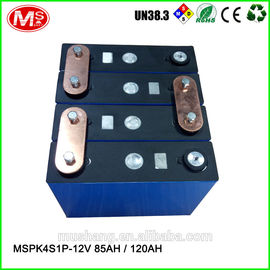 중국 12V 85Ah 120Ah rechargeable LiFePO4 battery pack for solar EV solar power and UPS 대리점