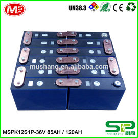 중국 High capacity lifePo4 battery MSPK12S1P LiFePO4 battery pack 36V 85AH 120AH For backup power 공장